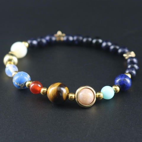 Image of Universe Galaxy Eight Planets Bracelet