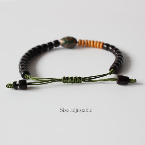 Image of Coconut shell Tibetan beads bracelet
