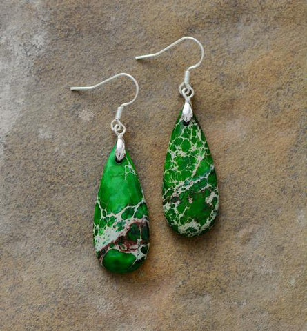 Image of Unique Natural Stones Teardrop Earrings