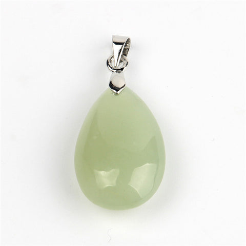 Image of Natural Stone Water Drop Pendants
