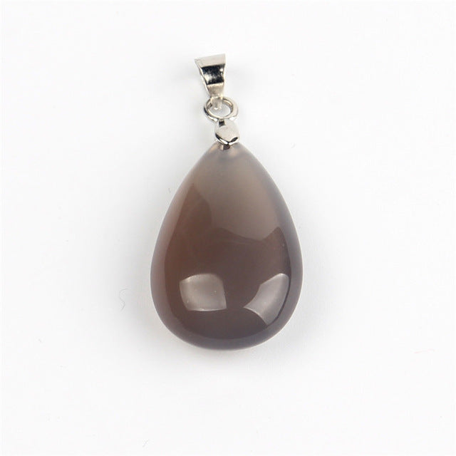 Natural Stone Water Drop Pendants