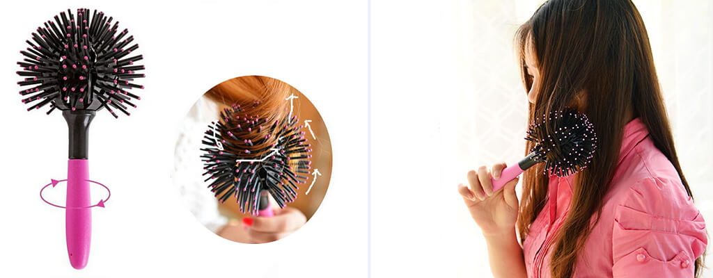 3D- hair-brush