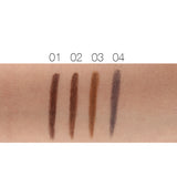 Waterproof Eyebrow Pencil Set - Long Lasting Eyebrow Pencil & Brush + 3 Eyebrow Stencils Templates