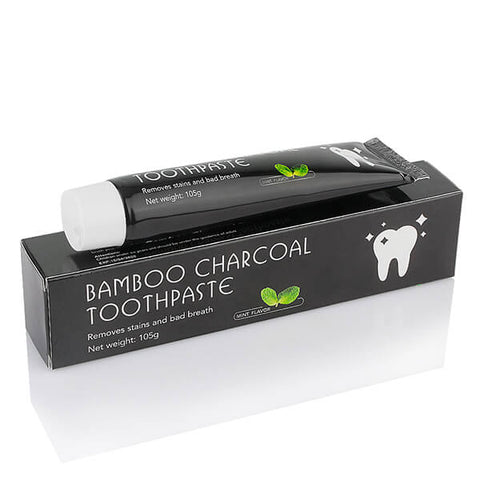 Activated Charcoal Toothpaste - Bamboo Teeth Whitening Black Toothpaste