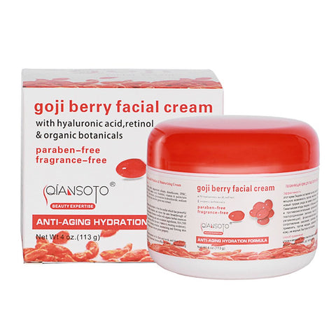 Goji Berry Face Cream - Anti Aging Hyaluronic Acid Cream