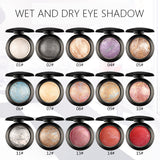 15 Colors Professional Nude Eyeshadow Palette - Waterproof Glitter Pigments