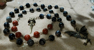 OOAK Pagan Prayer Beads, Meditation Beads, Witches Ladder, Witches Rosary, Pagan Rosary