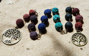 OOAK Tree of life prayer ladder, witch's ladder, tree of life prayer beads, protective charm, pagan rosary