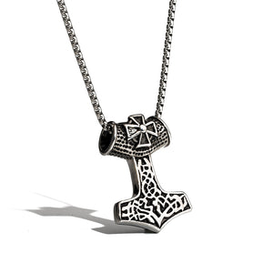 Thor Hammer Pendant for men Stainless Steel Necklaces Nordic Viking Pendant