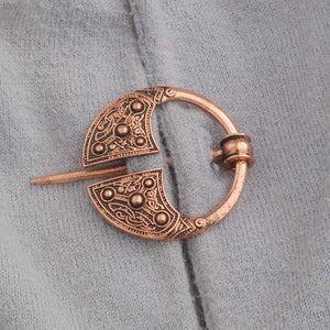Viking Brooch Copper Celtic Pin Viking Cloak Pin Medieval Jewelry