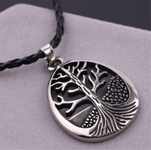 "Hollow Silver Nordic The Tree Of Life on 22"" Inch Chain"