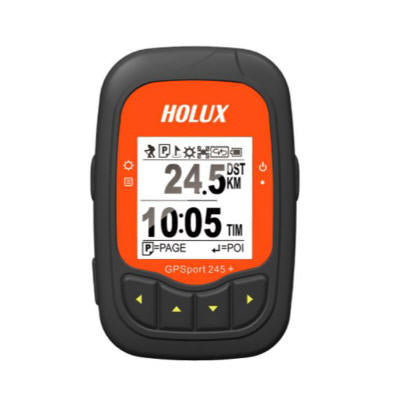 Holux GPSport 245+ GPS Data Logger, Bike Computers, Display Position Coordinates, Speed & Altitude, IPX6 Weather Proof (ezTour software included)