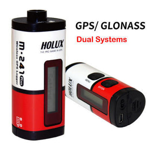 Holux M-241 plus GPS data logger(LCD display, Run on AA battery, GPS/GLONASS dual systems, 250,000 waypoints)