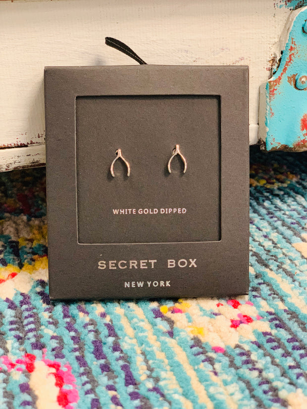 Wish Bone Studs - The Teal Antler Boutique