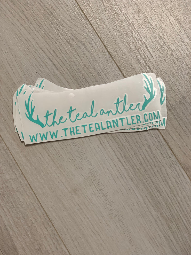 """The Teal Antler"" Vinyl Decal"