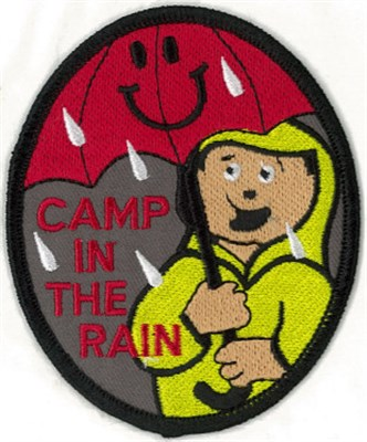 BLANKET PATCH - CAMP IN THE RAIN