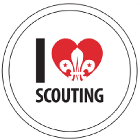 BLANKET PATCH - I LOVE SCOUTING, round