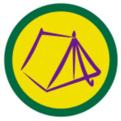 SCOUT BADGE - CAMPING