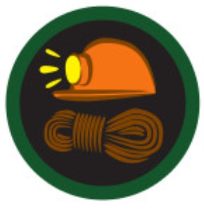 SCOUT BADGE - CAVING