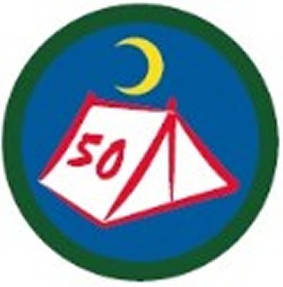 SCOUT BADGE - 50 NIGHTS CAMPING