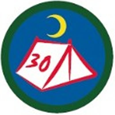 SCOUT BADGE - 30 NIGHTS CAMPING
