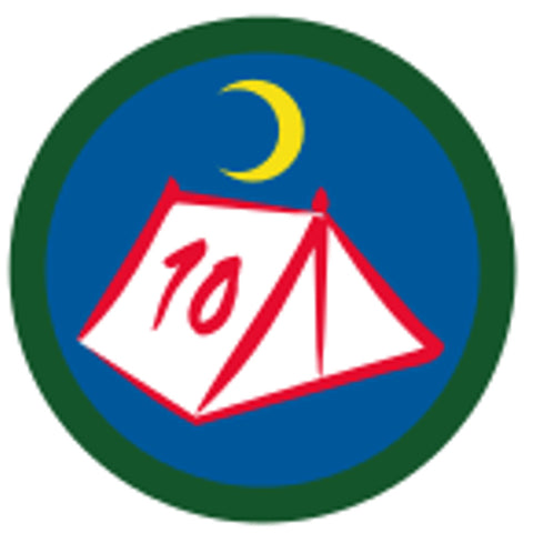 SCOUT BADGE - 10 NIGHTS CAMPING