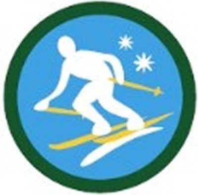 SCOUT BADGE - SKIING