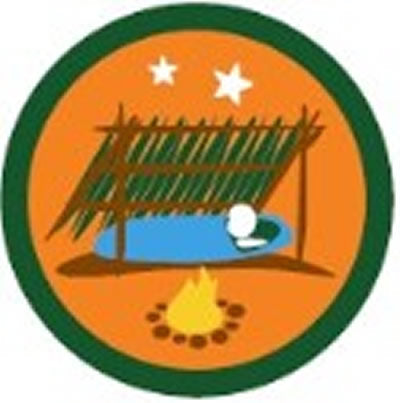 SCOUT BADGE - SURVIVAL CAMPING