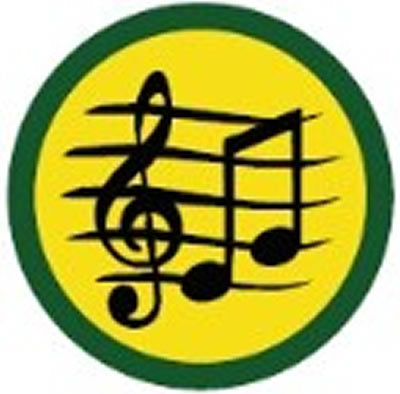 SCOUT BADGE - MUSIC