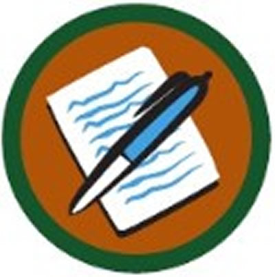 SCOUT BADGE - WRITING