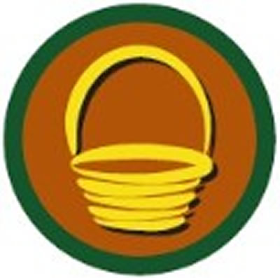 SCOUT BADGE - BASKET WEAVING