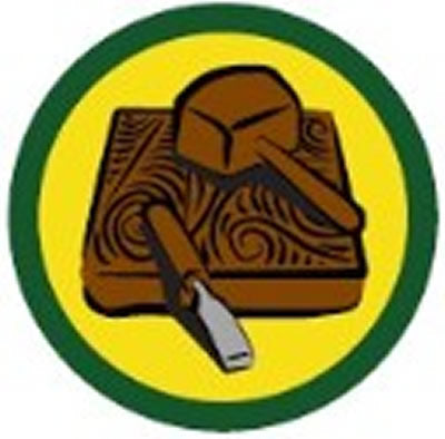 SCOUT BADGE - CARVING