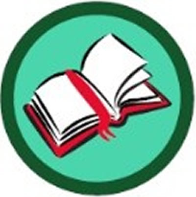 SCOUT BADGE - BOOK READING