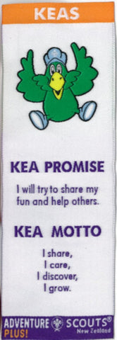 KEA BOOKMARK - NO BACKING - OLD KEA PROMISE AND MOTTO