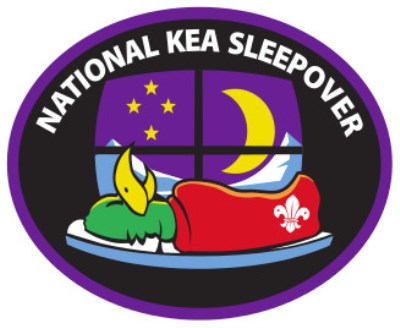 NATIONAL KEA SLEEPOVER BADGE - PURPLE BORDER