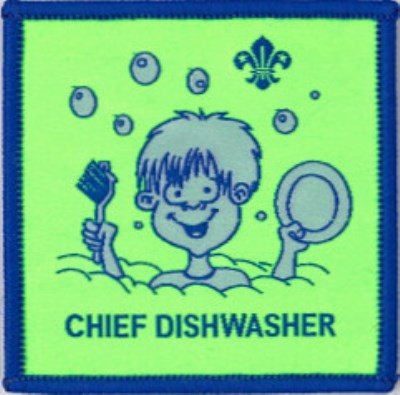 BLANKET PATCH - CHIEF DISHWASHER, fluro