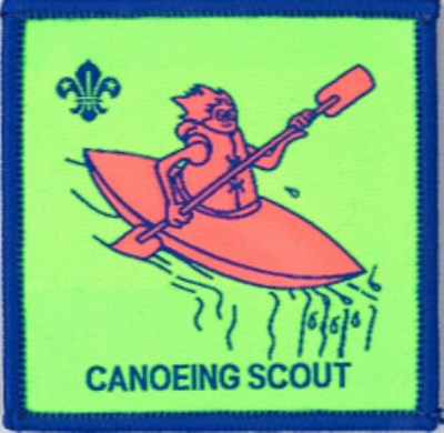 BLANKET PATCH - CANOEING SCOUT