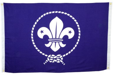 WORLD SCOUT LOGO BANNER / FLAG