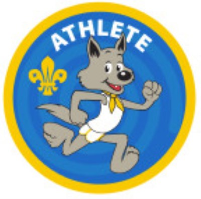 CUB BADGE - ATHLETE - STAGE TWO, BLUE