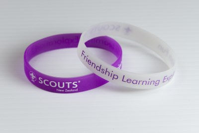 WRISTBAND - SCOUTS NEW ZEALAND - GLOW IN THE DARK