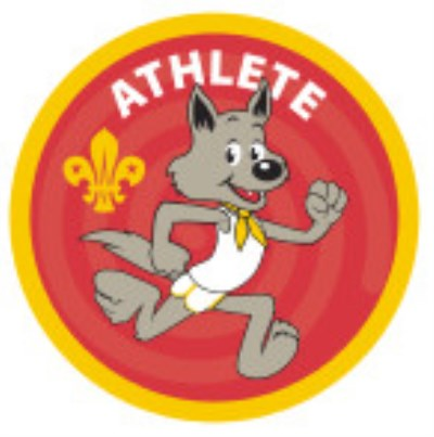 CUB BADGE - ATHLETE - STAGE ONE, RED