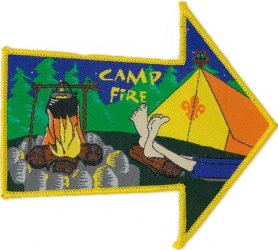BLANKET PATCH - CAMP FIRE (arrow)