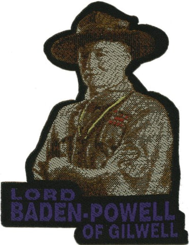 BLANKET PATCH - LORD BADEN-POWELL OF GILWELL, IRON-ON
