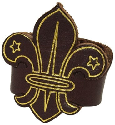FLEUR-DE-LIS LEATHER WOGGLE - LEADERS ONLY