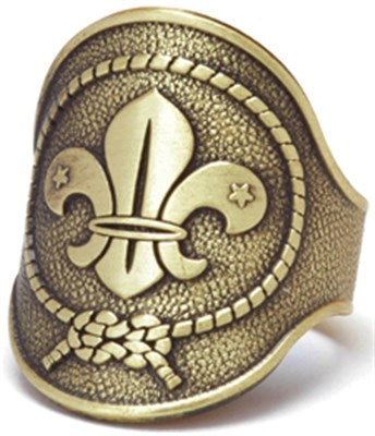 WORLD SCOUT METAL WOGGLE - LEADERS ONLY