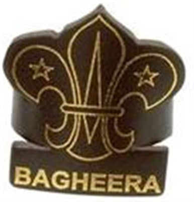 CUB LEADER LEATHER WOGGLE - BAGHEERA