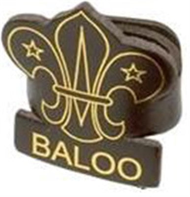 CUB LEADER LEATHER WOGGLE - BALOO