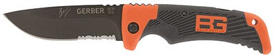 BEAR GRYLLS SURVIVAL SERIES SCOUT, DROP POINT, SERRATED, FOLDING KNIFE