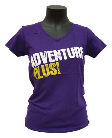 ADVENTURE PLUS T-SHIRT - LADIES V-NECK