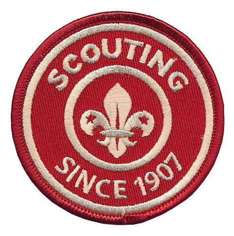 BLANKET PATCH - SCOUTING SINCE 1907 - RED